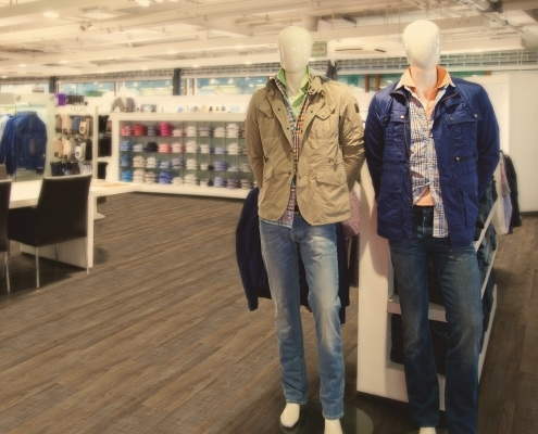 Designbelag in Mode-Geschäft
