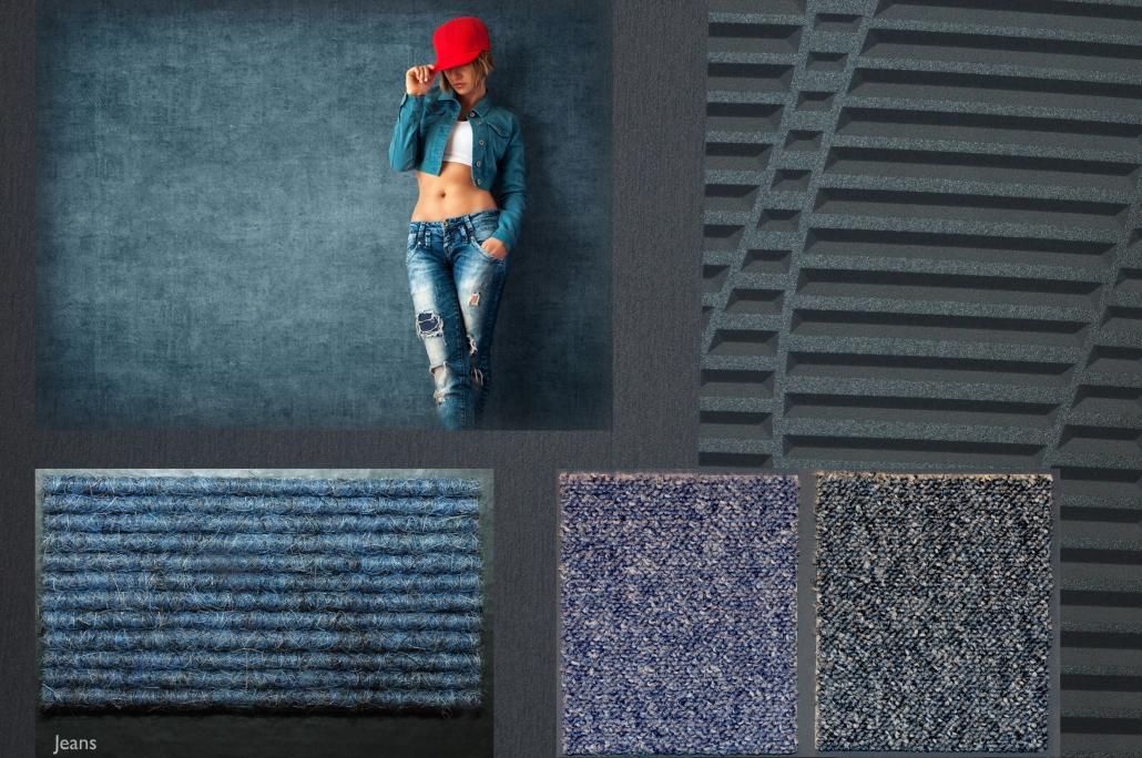 Symbiolbild Jeansoptik für Bodenbelag und Wandgestaltung