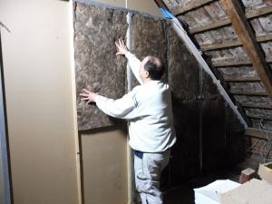 Dämmung auf Dachboden mit Trockenbau
