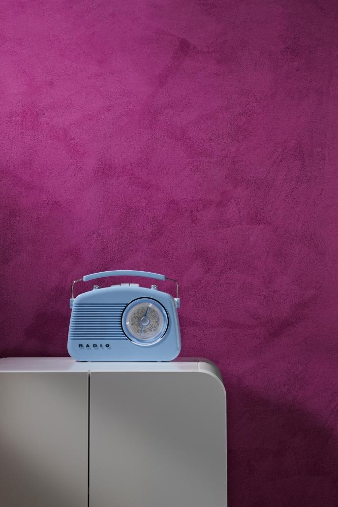 Knalliges Pink durch Lasurtechnik - Quelle Brillux