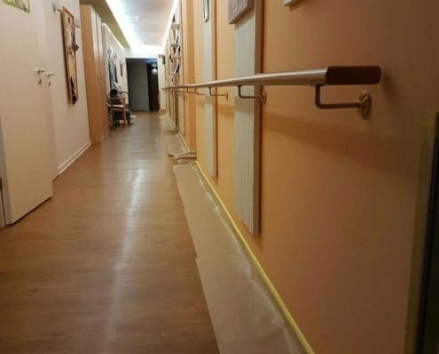 Decken- und Wandanstrich in Senioren-WG