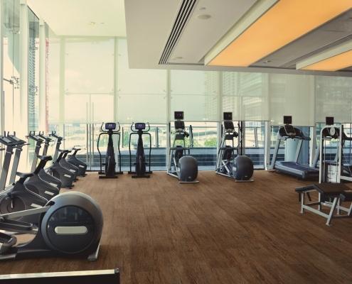 Designbelag im Fitnessstudio