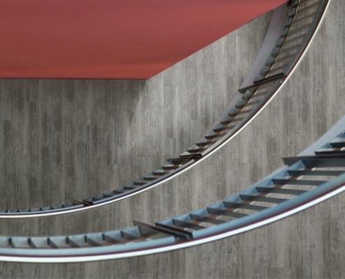 Designbelag Treppenhaus
