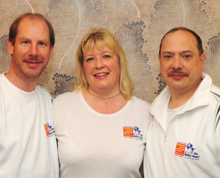 Die Maler-Engel Team alle drei